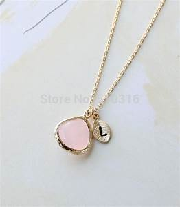 1pcs 2015 gold initial crystal necklace letter l necklace for Gold necklace with letter l