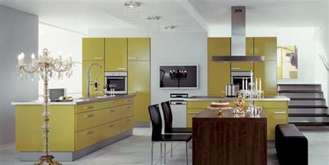 meuble cuisine jaune cuisiniste design aviva