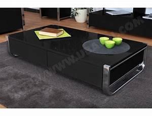 Table Basse Noire Design : table basse amovible pas cher id e inspirante pour la conception de la maison ~ Teatrodelosmanantiales.com Idées de Décoration