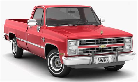 Chevy Trucks Models by 3d Chevrolet C10 Silverado 1985 Turbosquid 1300039