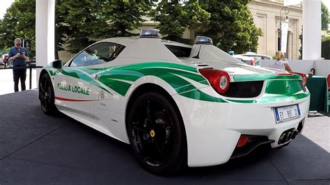 The Italian Police Have A Ferrari 458 Spider Police Car