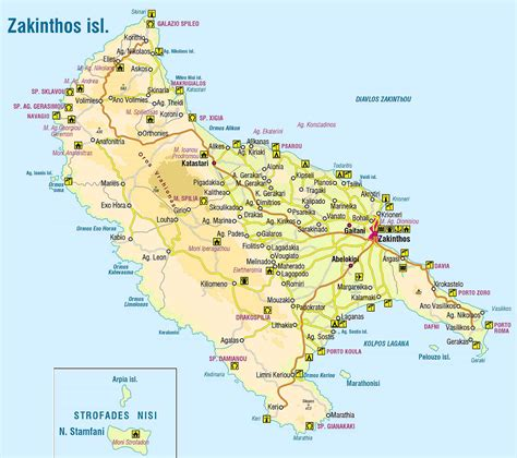 map zante greece