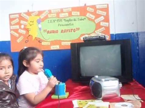 LA RADIO ESCOLAR EN EDUCACIÓN INICIAL YouTube