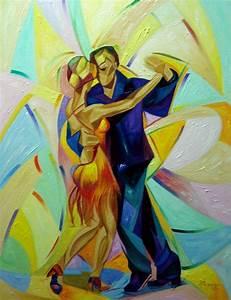 Bailadores De Bachata Painting by Alex Garcia