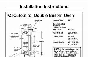 I Need To Find The Dimensions For An Older Double Oven