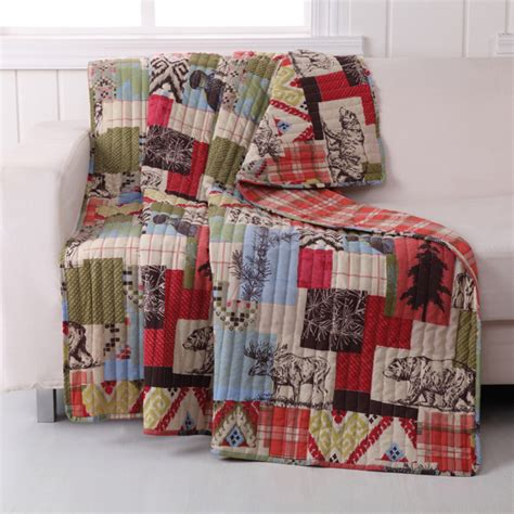 rustic lodge throw blanket cape  linen