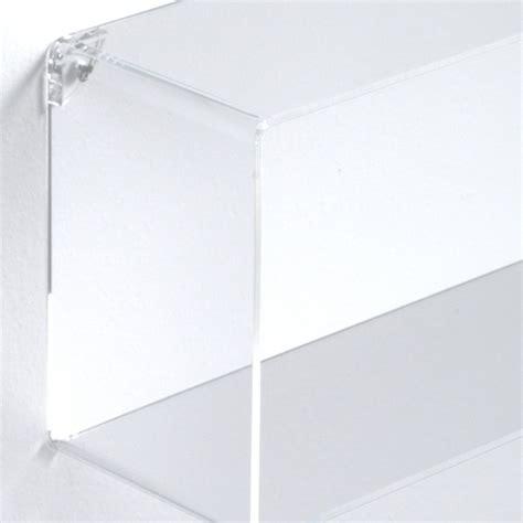 immagini mensole parete set 3 mensole rettangolari da parete in plexiglass klever