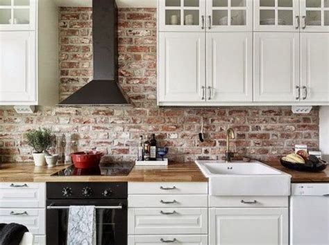 Super Practical And Really Stylish Brick Kitchen