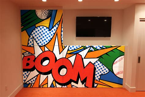 Pop Art mural - Custom mural specialists