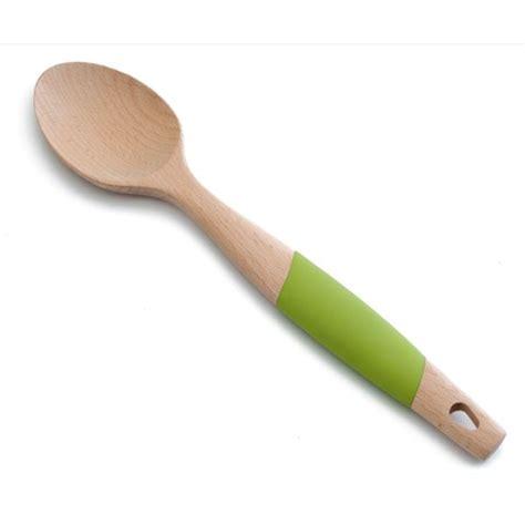 cuisiner des couteaux cuillère lisse en bois et silicone 34 cm cuillères
