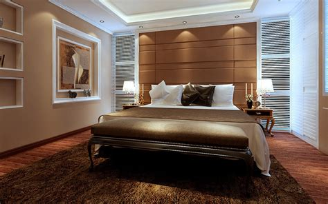 honourable bedroom walls and carpet 3d house