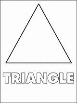 Triangle Coloring Shapes Pages Triangles Triagle Printable Shape Toddlers Template Preschool Sheets Worksheet Worksheets Printables Activities Children Bestcoloringpagesforkids Templates Educational sketch template