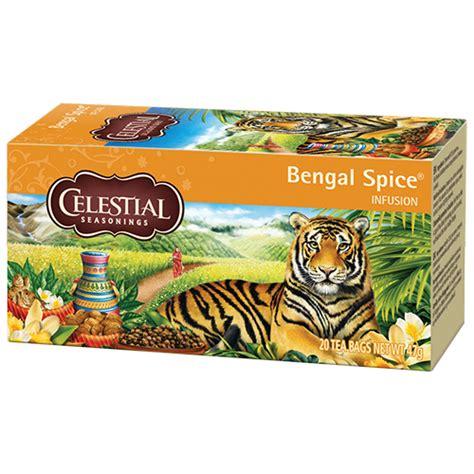 paket honey tea celestial tea bengal spice tepåsar 20st delico kaffe