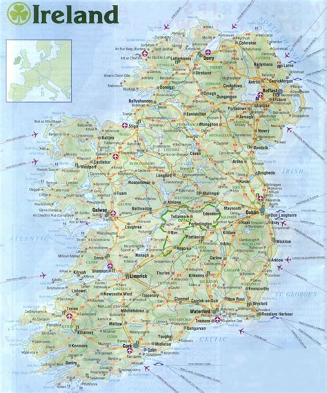 Map of Ireland. Chestnut Cottage