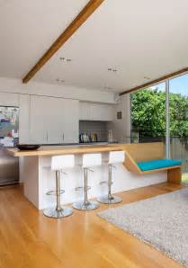 kitchen island makeover ideas auckland bungalow with modern glass and timber extension