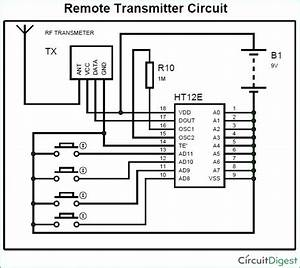Rf Remote Transmitter Circuit Diagram  With Images