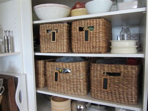wicker kitchen storage baskets wicker baskets used as storage in the small spaces 1521