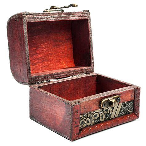 designer jewelry box wooden antique design embossed flower jewelry gift