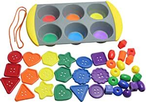 amazoncom color sorting buttons beads set sorting