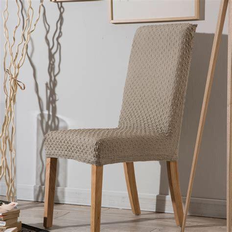 housse chaise extensible housse de chaise bi extensible unie effet gauffré marine