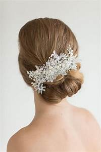 Lace Headpiece Crystal Pearl And Lace Hair Comb Wedding