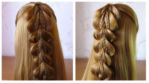 Tuto coiffure simple cheveux long/mi long u2605 Fausse tresse avec u00e9lastiques u2605 facile a faire - YouTube