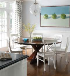 White Wood Dining Table with Chairs