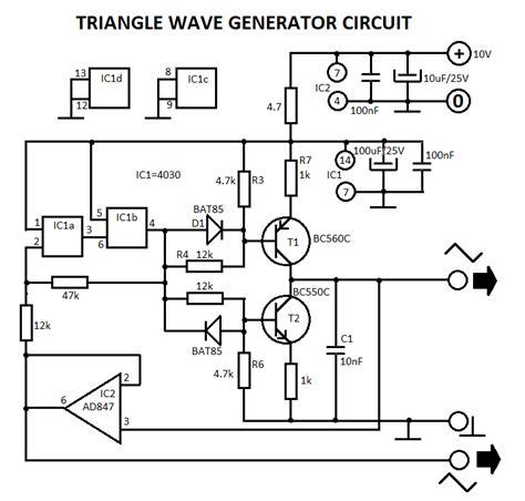 triangle wave generator circuit