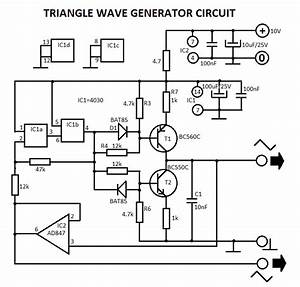 555 triangle waveform generator circuit With triangle squarewave generator