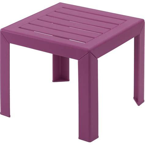 lot 42 tables basses fuchsia en plastique miami grosfillex