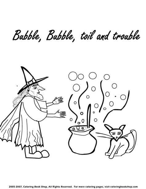 halloween witch  cauldron coloring page printable