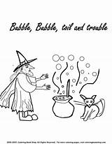 Coloring Cauldron Witch Printable Halloween Witches Pages Reserved Rights Copyright 2005 sketch template