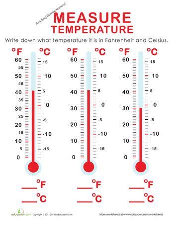 Measure Temperature: Fahrenheit and Celsius | Math data ...