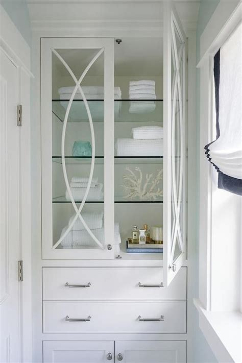 Glass Bathroom Cabinets by Like A Storage Cabinet For Master Like Glass Doors And