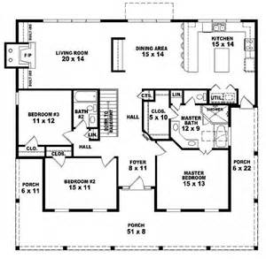 one story open house plans 654173 one story 3 bedroom 2 bath country style house