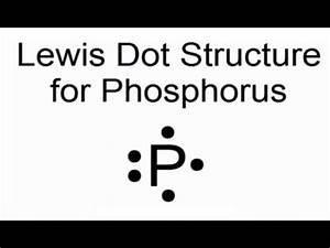 Lewis Dot Structure for Phosphorous Atom (P) - YouTube
