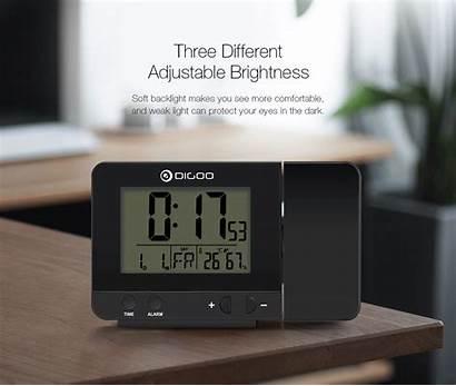 Digoo C10 Dg Clock Usb Rechargeable Humidity