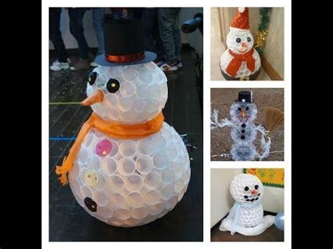 schneemann aus plastikbechern  diy  fail youtube