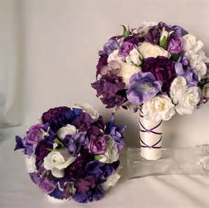 order wedding flowers items similar to purple bridal bouquet silk wedding flowers bridal accessories artificial