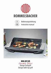 Rommelsbacher Bbq 2012 Grill Download Manual For Free Now