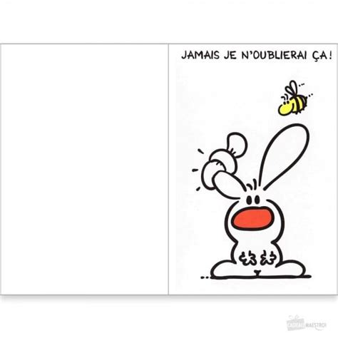 carte de remerciement show lapin cadeau maestro