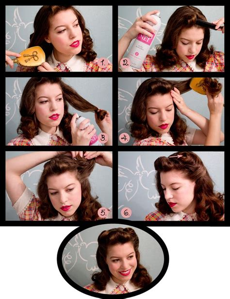 40s quot victory curls quot hair tutorial hair styles