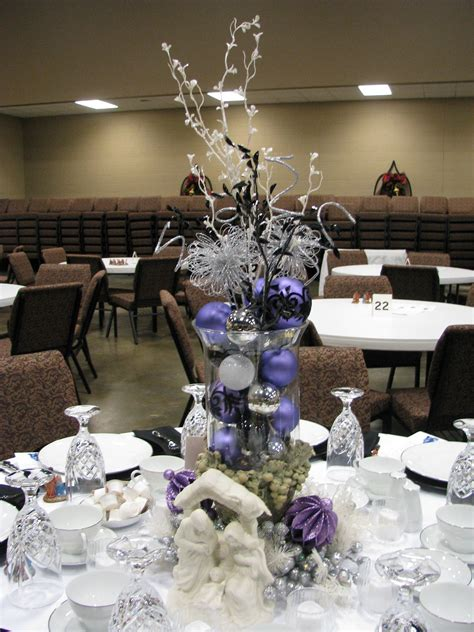 Just click the save to decorpad button next time you discover new decor products that you want to save for later. Black and Silver Table Decor Elegant Purple White Silver and Black Table Decoration   Christmas ...