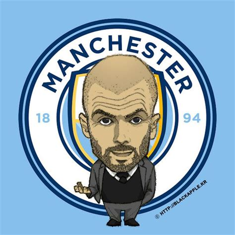 manchester city  coach pep guardiola fan art man city