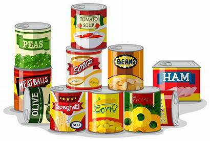 Canned Vector Different Types Clipart Graphics