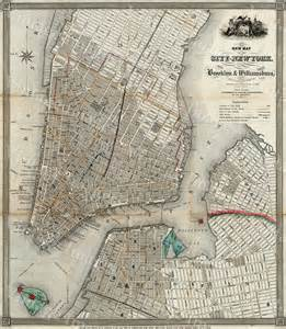Brooklyn New York City Map Manhattan