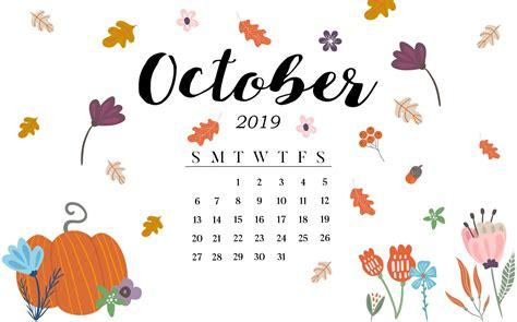 october  hd calendar wallpaper