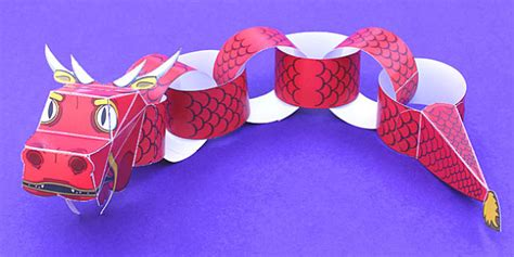 paper chinese dragon craft activity teacher