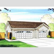 Threecar Garage Plans  3car Garage Plan With Gable Roof