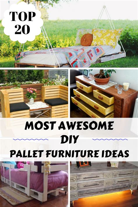 20 great diy furniture projects on a budget style motivation top 20 most awesome diy pallet furniture ideas zoomzee org